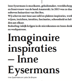Inne Eysermans, Amatorski, interview, rooilijn ,Lotte Brown